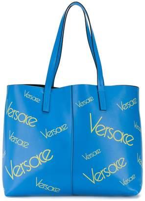 Versace large logo tote