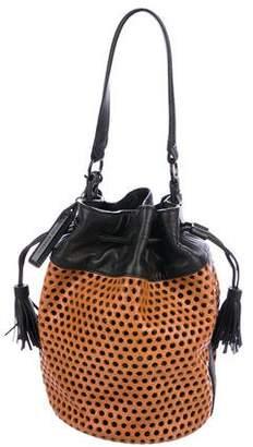 Loeffler Randall Perforated Leather Bucket Bag