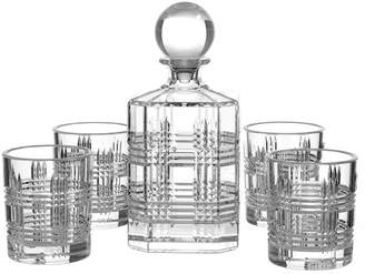Salt&Pepper Set of 5 Bond Whisky Glasses & Decanter Set