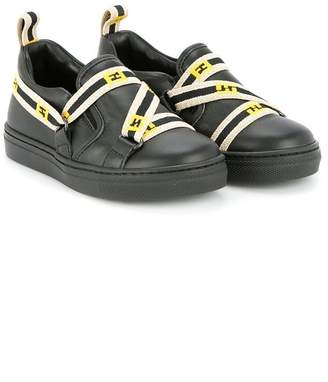 Fendi web strap slip-on sneakers