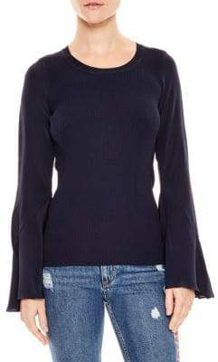 Sandro Ruddy Silk Sleeve Sweater