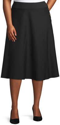 WORTHINGTON Worthington Womens Button Boot Skirt - Plus