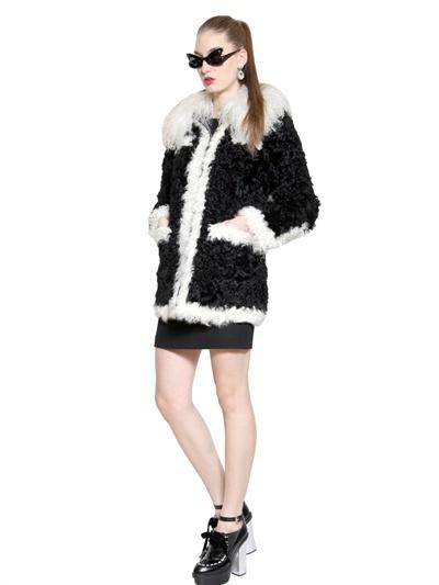 Moschino Cheap & Chic Mongolia & Kalgan Faux Fur Coat