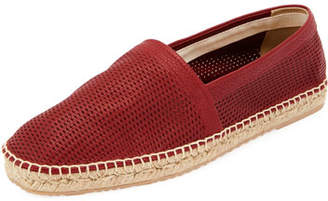 Giorgio Armani Men's Perforated Leather Espadrille