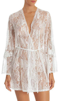 Jonquil Sutton Short Lace Robe