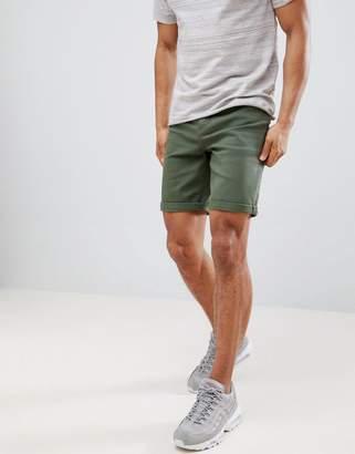 Asos DESIGN Denim Shorts In Slim Green