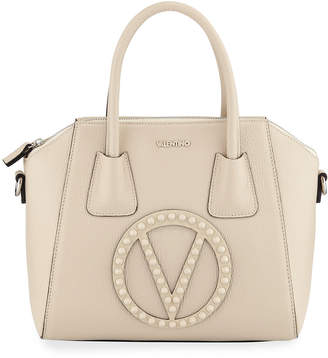 Mario Valentino Valentino By Minimi Rock Dollaro Leather Stud Satchel Bag