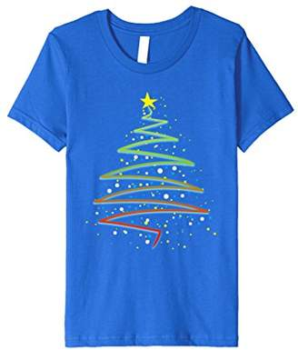 Cool Christmas Tree Shirt With Xmas Lights And Star T-Shirt