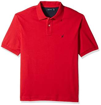Nautica Men's Big and Tall Classic Fit Short Sleeve Solid Soft Cotton Polo Shirt