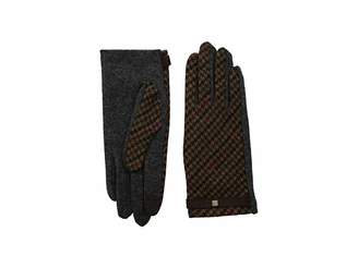 Lauren Ralph Lauren Houndstooth Plaid Touch Gloves Extreme Cold Weather Gloves