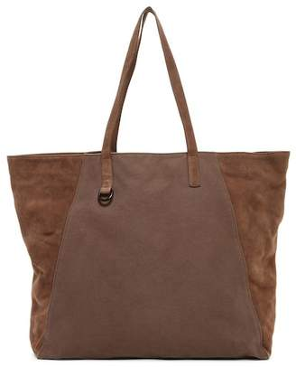 AllSaints Aichi Cow Leather Trim Tote Bag