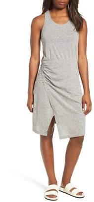 Caslon Racerback Side Ruched Cotton Blend Tank Dress (Regular & Petite)