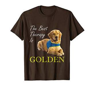 Golden Retriever The Best Therapy Is Dog Shirt