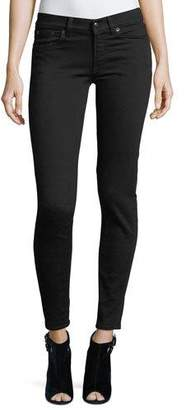Ralph Lauren Collection 400 Matchstick Mid-Rise Jeans, Black Rinse $590 thestylecure.com