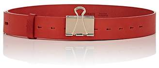 Vetements Men's Binder-Clip Leather Belt