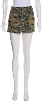 Tory Burch Camo Print Mini Skirt