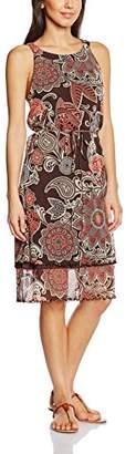 S'Oliver Premium Women's Dress Multicoloured Mehrfarbig (brown AOP 88A4)