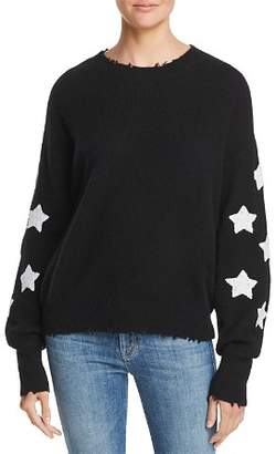 Aqua Star-Sleeve Distressed Cashmere Sweater - 100% Exclusive