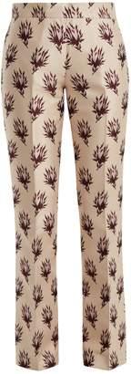 Giambattista Valli Rosebud-jacquard mid-rise trousers