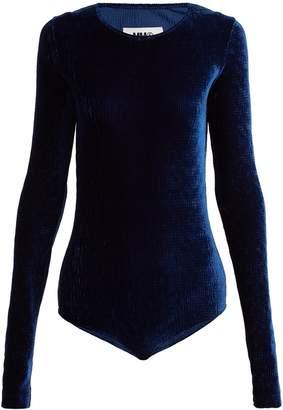 MM6 MAISON MARGIELA Velvet jersey-blend bodysuit