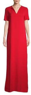 Lanvin Short-Sleeve Floor-Length Gown