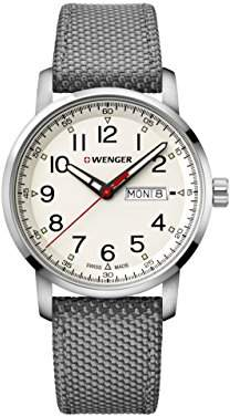 Wenger Men's 'Sport' Swiss Quartz Stainless Steel and Nylon Casual Watch