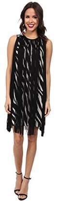 MICHAEL Michael Kors Women's Ghanzi Sleeveless Fringe Dress MD
