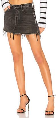 Alexander Wang DENIM x Zip Skirt.