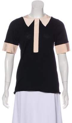 Marc by Marc Jacobs Knit Short Sleeve Blouse