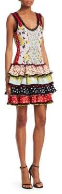 Tiered Patchwork Dress