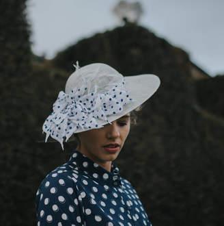 21f4da978b7ac At Notonthehighstreet Com Holly Young Millinery Blue Spotty Vintage Brim Hat  Lady