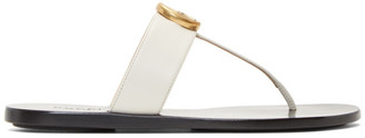 Gucci Off-White Marmont Flat Sandals