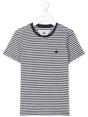 Macchia J Kids striped crew neck T-shirt