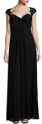 La Femme Elegant Twisted Shir Floor-Length Gown