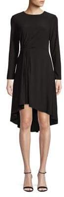 Adrianna Papell Long-Sleeve Fit-&-Flare Dress