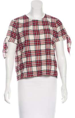 Jenni Kayne Plaid Short Sleeve Top