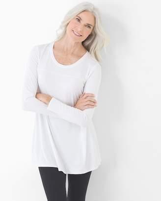 c3e70c6dc7e77 Soft Jersey Long Sleeve Yoke Tunic Bright White