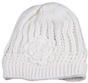 Pop Fashionwear Inc Winter Knit Flower Beanie 333HB