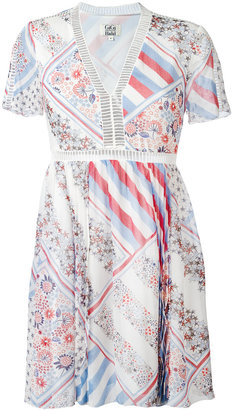 Tommy Hilfiger patchwork print flared dress $296.04 thestylecure.com