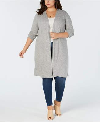 BCX Trendy Plus Size Open-Front Cardigan