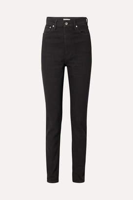 Helmut Lang Femme Hi Spikes High-rise Straight-leg Jeans - Black