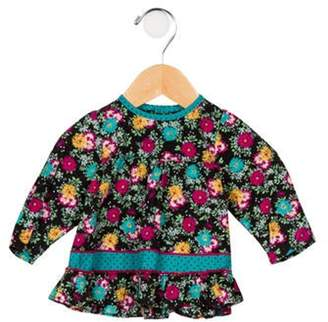Kenzo Girls' Long Sleeve Floral Blouse black Girls' Long Sleeve Floral Blouse