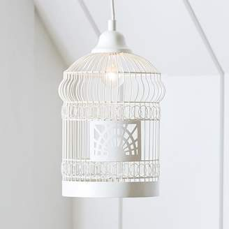 Pottery Barn Teen Birdcage Pendant Shade, Small, White