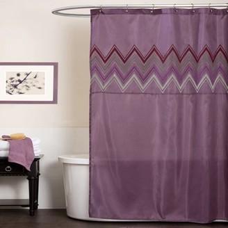 Lush Decor Myra Purple Embroidered Shower Curtain