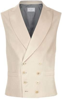 Brunello Cucinelli Sleeveless Double-Breasted Jacket
