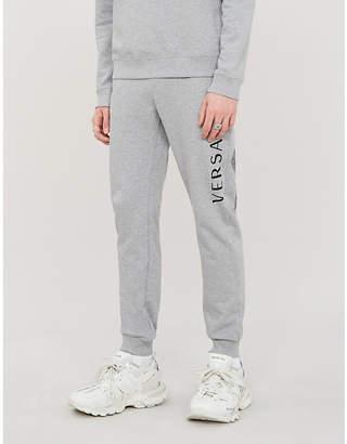 Versace Logo-print cotton-jersey jogging bottoms
