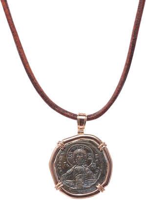 Men's Ancient Reversible Coin 18K Gold Pendant for Jorge Adeler