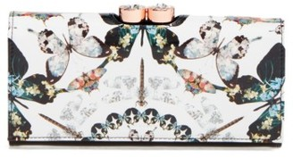 Women's Ted Baker London Butterfly Print Leather Matinee Wallet - Black $179 thestylecure.com