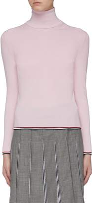 Thom Browne Stripe border rib knit turtleneck sweater