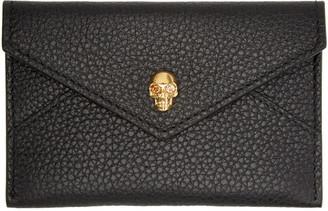 Alexander McQueen Black Skull Card Holder $195 thestylecure.com